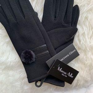 Marcus Adler Accessories - Marcus Adler pompom touchscreen gloves black NWT
